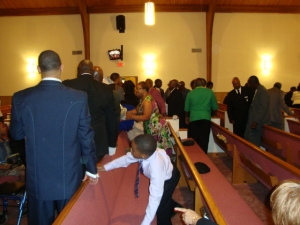 Greeting during fellowship