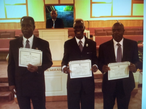 Deacon's Ordination: (Left to Right)   Dea. L. Williams, Dea. R. Williams, Dea. N. Anderson