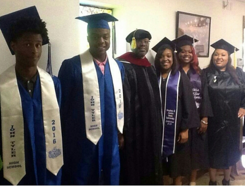 All Graduates Pictures with Dr.Jerard     Mosley,Pastor North Star Bsptist Church