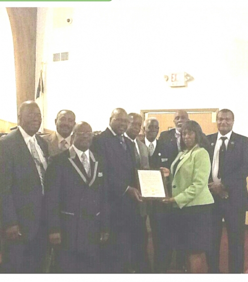 Proclamaton presented by County Commissioner JoAnn Hampton for 89th Church Anniversary