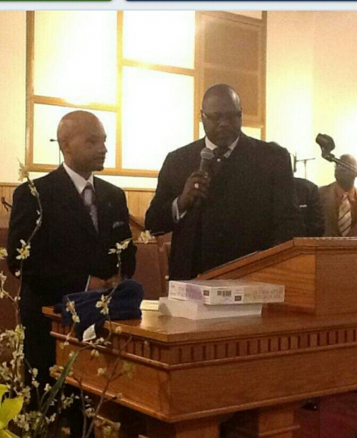 Rev. Reginald Scott's First Sermon Photos and Presentation of License
